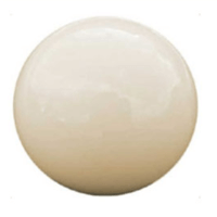 white pool ball